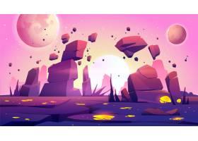 以星球景观为背景的太空游戏_7743075