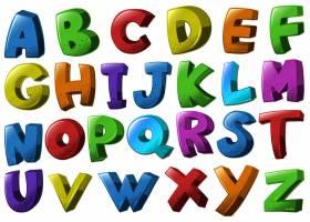 不同颜色的英文字母字体_1372652