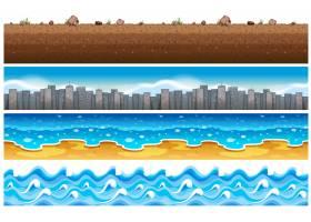 与水和城市场景无缝结合的背景_1175651