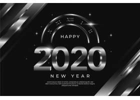 2020年白银新年背景概念_6210039