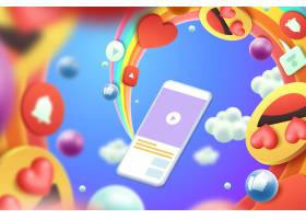 3D彩色表情符号背景样式_6388059