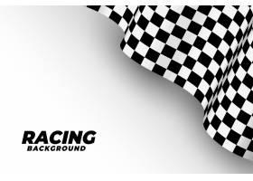 3D样式的赛车旗帜背景_6918278