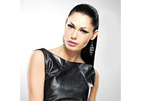 美丽性感女人的脸眼妆时尚迷人发型光泽_11961781
