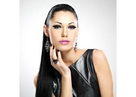 美丽性感女人的脸眼妆时尚迷人发型光泽_11961783