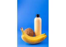 一个正面的奶油色瓶子塑料洗发水罐黑色的_9368004