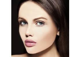 高级时尚造型迷人的特写美人肖像美丽的高_7200981