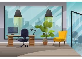 视频会议的办公室背景_9901863