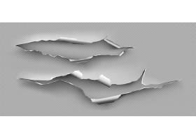 钢板上有撕裂的孔粗糙的裂纹在透明背景_9498909
