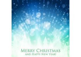 闪亮的圣诞彩色背景背光和发光的粒子抽_10219727