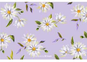 雏菊装饰背景水彩画风格_5137173