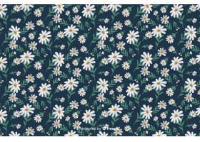 雏菊装饰背景水彩画风格_5197274