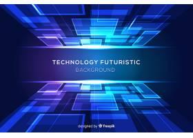 蓝色未来主义背景有形状_5524768