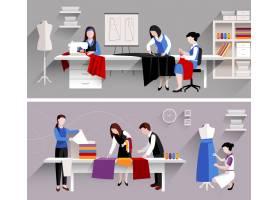 缝纫工作室裁缝车间设计模板集_3947892
