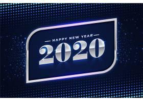 美丽的银色新年2020背景_6071676