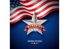 美国阵亡将士纪念日五颜六色的星星背景上_7977729