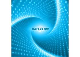 矢量数据流可视化以二进制数串在隧道中扭_10735081