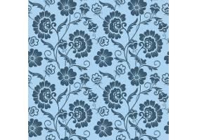 矢量花卉无缝图案背景背景纹理优雅古典_1283321