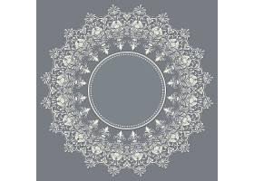 矢量装饰性圆形花边搭配锦缎和阿拉贝斯元_1283680