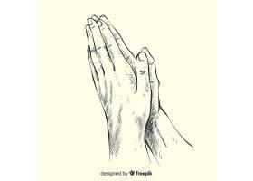 祈祷手背景_3491940