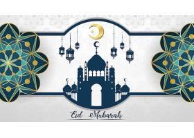 穆斯林节日开斋节穆巴拉克背景_7042402