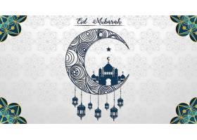 穆斯林节日开斋节穆巴拉克背景_7042411