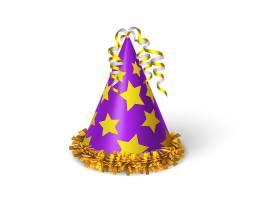 生日紫罗兰色黄星帽子_4561520