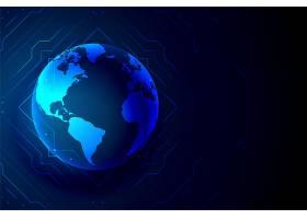 环球科技地球旗帜数字背景_4299003