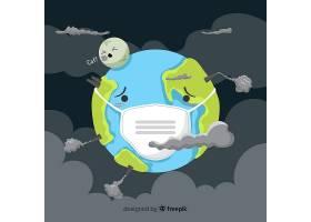 污染概念背景扁平式_4946272