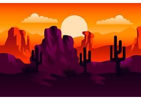 沙漠景观视频会议的背景_9978620