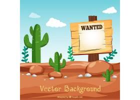 沙漠背景附通缉海报_1008269