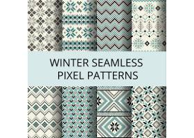 用像素制作的八种冬季图案_949934