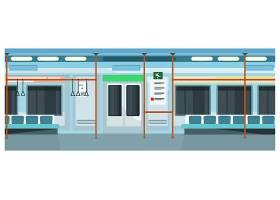 现代舒适的地铁列车插图_3297773