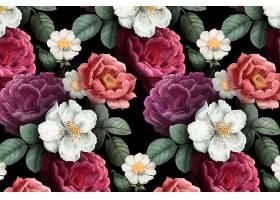 浪漫的花卉背景_4122012