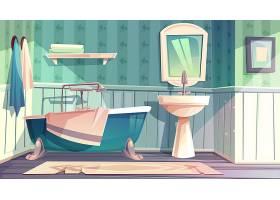 浴室内饰采用复古法国普罗旺斯风格插图_3519525