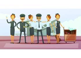 机组人员卡通背景_3794923