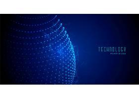 数字技术抽象蓝色发光粒子背景_6640334