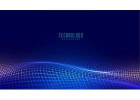 数字网波技术概念背景设计_6512254