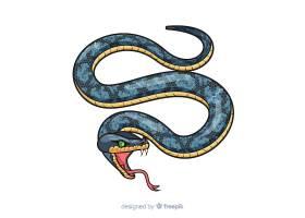 手绘逼真的蛇嘶嘶声背景_4211078