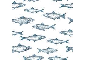 手绘鱼无缝背景图案_9952268
