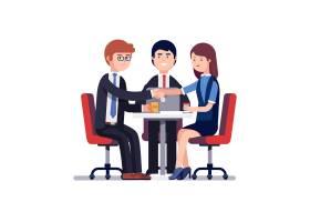成功的商务会议或工作面试_1311606