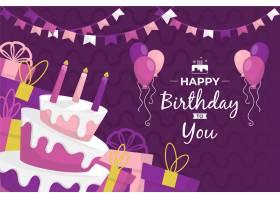 带气球的生日快乐背景_7034258