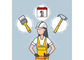 工人与建筑对象插图_5769201