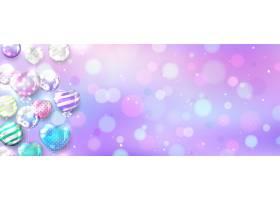 带复制空间的BOKEH背景上的粉色气球_7978133