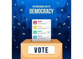 带投票的平面设计国际民主背景日_9262965