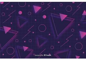 孟菲斯风格的几何背景_5416978