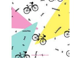 孟菲斯风格的自行车图案_890331