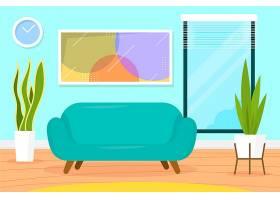 家居内部视频会议的背景_9852205