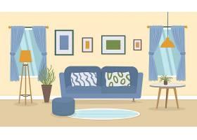 家居内部视频会议的背景_9914571