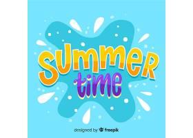 夏日字体背景_4525050