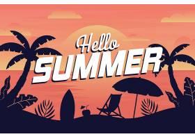 夏日背景带海滩_8422623